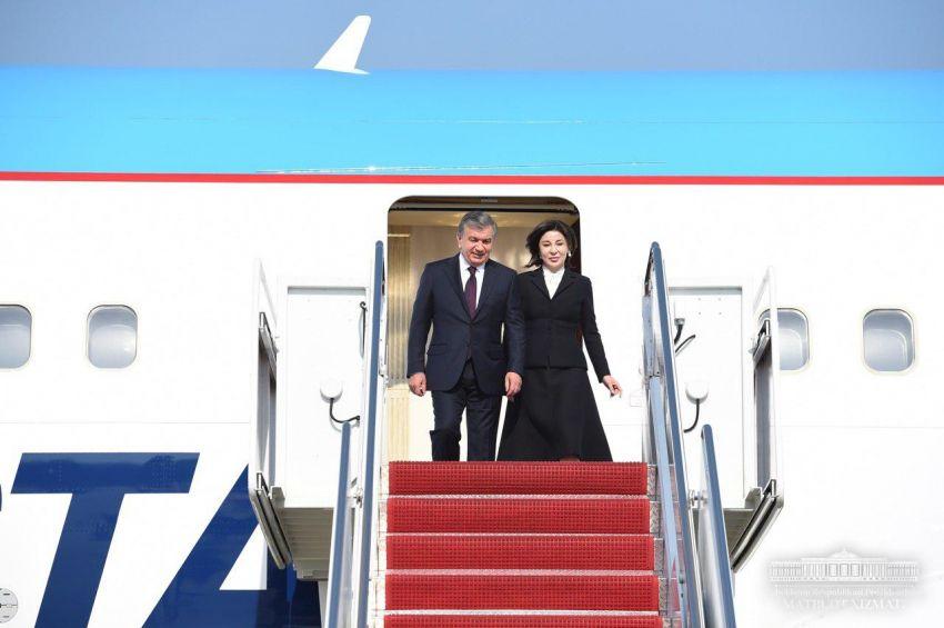 Президент Шавкат Мирзиёев прибыл в Вашингтон